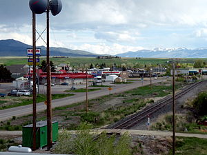 Dillon, Montana - Dillon, Montana, from the Interstate 15 offramp