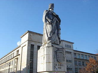 University of Coimbra - Statue of King Denis, in Coimbra