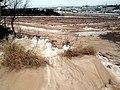 Dirt blown on snow, Charlottetown, PEI (39672062641).jpg