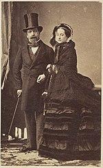 Napoleone III ed Eugenia: la coppia imperiale protesse lo scrittore.