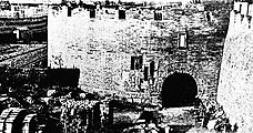 The dismantlement of Old City walls, 1911