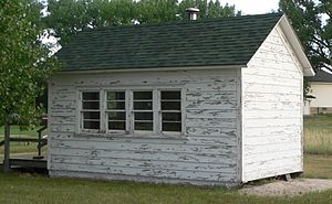 National Register of Historic Places listings in Sheridan County, Nebraska - Image: District 119 School from SE