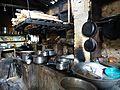 District Samdrup Jonkhar - Küche im Dorfcafe Narphung.JPG