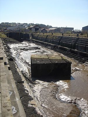 Pembroke Dock - Disused former dry dock, Pembroke Dockyard