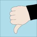 Dive hand signal Descend.png