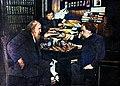 Dmitri Mendeleev playing chess with Arkhip Kuindzhi, and Anna watching them.jpg