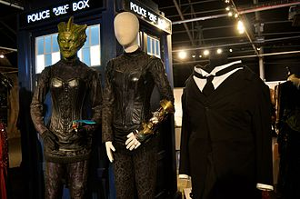 Madame Vastra, Jenny Flint, and Strax - The costumes of Madame Vastra, Jenny, and Strax, on display at the Doctor Who Experience.