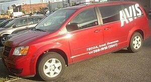 Avis Rent a Car - A Dodge Grand Caravan from Avis.