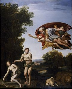 Domenichino - La cacciata di Adamo ed Eva (Chatsworth House).jpg