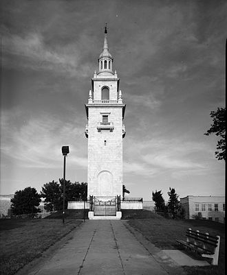 Fortification of Dorchester Heights - The Dorchester Heights Monument, completed in 1902