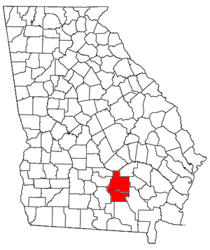 Douglas, Georgia - Location of the Douglas Micropolitan Statistical Area in Georgia