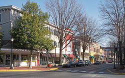 West Loockerman Street in downtown Dover, Delaware.
