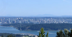Downtown Vancouver - Downtown Vancouver, with the West End and Stanley Park.