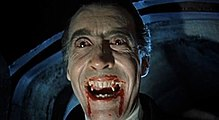 dracula  christopher lee as the title character in dracula 1958