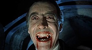 Vampires in popular culture - Christopher Lee portrayed Count Dracula in the celebrated Hammer Horror series of films, starting with Dracula  in 1958.