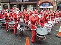Drummers at the Liverpool Santa Dash 2009.jpg