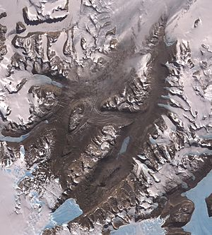 McMurdo Dry Valleys - ASTER image of the Dry Valleys.