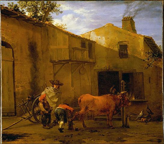 File du jardin karel a smith shoeing an ox google art for Art du jardin zbinden sa