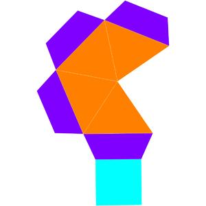 Elongated square pyramid - Image: Dual elongated square pyramid net