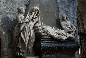 Robert FitzGerald, 19th Earl of Kildare - Monument dedicated to Robert FitzGerald, showing how he was mourned by his family, in Christ Church Cathedral.