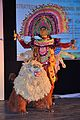 Durga with Lion - Mahisasuramardini - Chhau Dance - Royal Chhau Academy - Science City - Kolkata 2014-02-13 2859.JPG