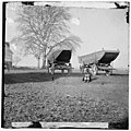 Dutch Gap, Virginia (vicinity). Pontoon boats on wheeled carriages at deserted farm house near Dutch Gap canal LOC cwpb.01937.jpg