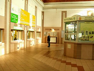 Otwock railway station - The ticket hall