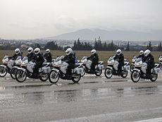 Полиция Греции Википедия Мотоциклетная полицейская команда
