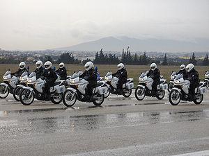 Greek police bikes