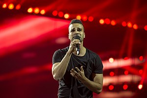 Hungary in the Eurovision Song Contest 2014 - András Kállay-Saunders at the first semi-final dress rehearsal