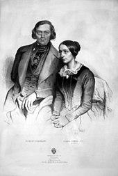 Robert und Clara Schumann 1847, Lithographievon Eduard Kaiser (Quelle: Wikimedia)