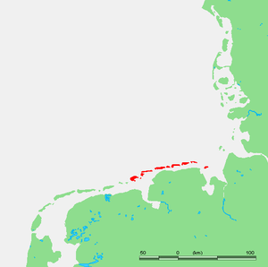 East Frisian Islands - Image: Eastfrisianmap