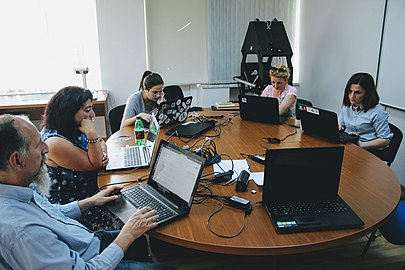 "Edit-a-thon in the frameworks of ""Wiki Loves Yerevan"" project, 16 June 2018, Wikimedia Armenia 02.jpg"