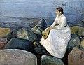 Edvard Munch - Summer night, Inger on the beach (1889).jpg