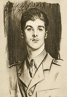 Edward Wyndham Tennant (For remembrance, soldier poets who have fallen in the war, Adcock, 1920 pg 91).jpg