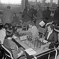 Eerste ronde Internationaal Damesschaaktoernooi te Emmen Russin Olga Rubtsova (r, Bestanddeelnr 908-9180.jpg