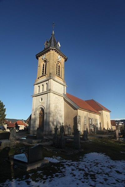 L'église de Saint-Antoine (Doubs).