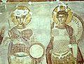 Eglise du Saint-Sauveur, la travée sud-ouest saints guerriers Nestor et Procope. Géorgie, Tsalendjikha.jpg