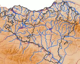 Nerbioi (Euskal Herriko ibaien mapa)