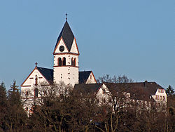 Umwhile Franciscan abbey upon the Klosterberg (abbey hill) in the east o Kelkheim.