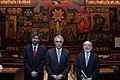 El presidente de la Asamblea Nacional, Fernando Cordero Cueva, recibió la visita de Diego García Sayán, Leonardo Franco y Pablo Saavedra, presidente, vicepresidente y secretario de la Corte (5188016032).jpg
