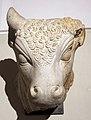 Eliopoli, testa di toro da santuario di baalbek, I-II sec..JPG