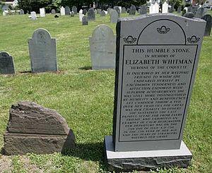 The Coquette - Elizabeth Whitman's grave