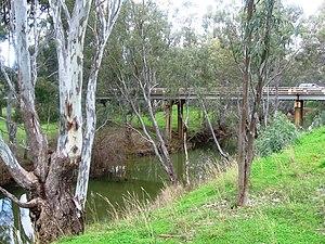 Campaspe River - Image: Elmore Campaspe River Bridge