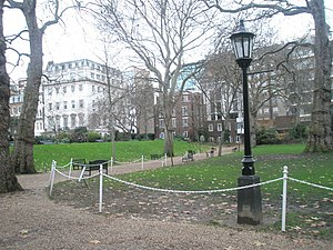 Empty seats within Lincoln's Inn Gardens - geograph.org.uk - 1653916.jpg