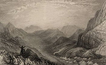 English: Encampment of Israelites, Mount Sinai...