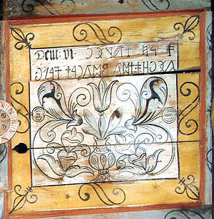 Old Hungarian alphabet - Image: Enlaka rovas inscription