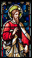 Enniscorthy St. Aidan's Cathedral East Aisle First Window Apostle Simon Detail 2009 09 28.jpg