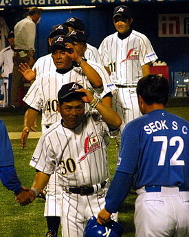 Enomoto and Otake at the 2010 World University Baseball Championship.jpg