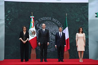 Enrico Letta - Enrico Letta and his wife with President of Mexico Enrique Peña Nieto and First Lady Angélica Rivera.